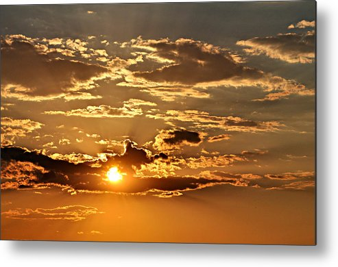 Sun Metal Print featuring the photograph Sky Ablaze 1 by Marty Koch
