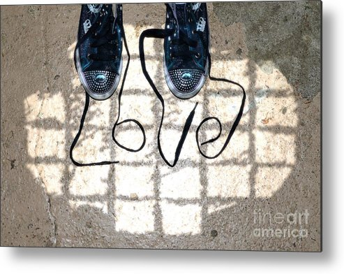 Sneaker Metal Print featuring the photograph Sneaker Love 1 by Paul Ward