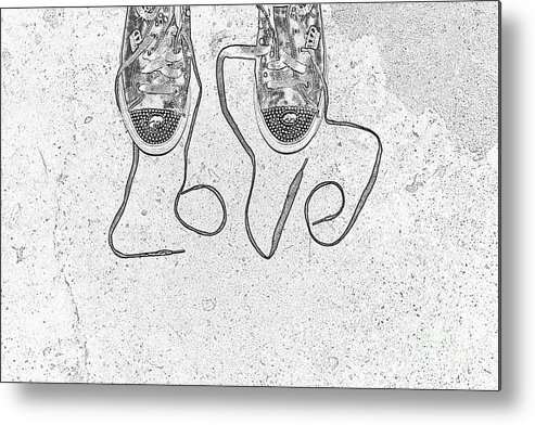 Sneaker Metal Print featuring the photograph Sneaker Love 2 by Paul Ward
