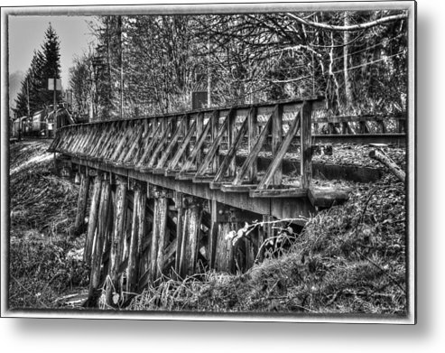 B&w Metal Print featuring the photograph Snoqualmie Trestle by Scott Massey