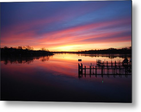 Sunrise Metal Print featuring the photograph South River Sunrise by Tony Ballas