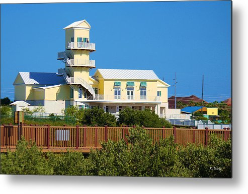 Roena King Metal Print featuring the photograph Spi Birding Center From The Boardwalk by Roena King