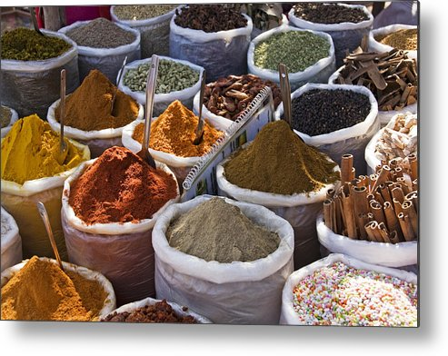 Horizontal Metal Print featuring the photograph Spices by photography by Carol Adam