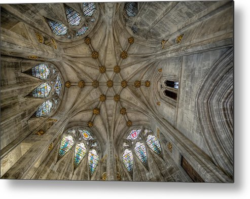 Architecture Metal Print featuring the photograph St Mary's Ceiling by Adrian Evans