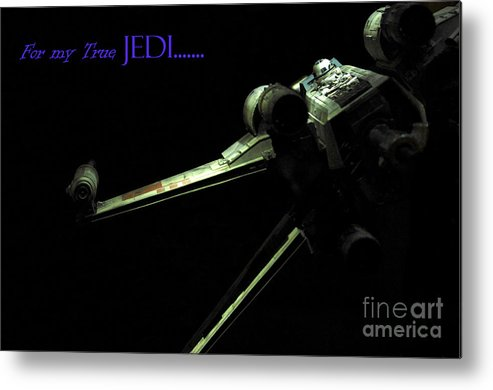 Star Wars Metal Print featuring the photograph Star Wars Jedi Card by Micah May