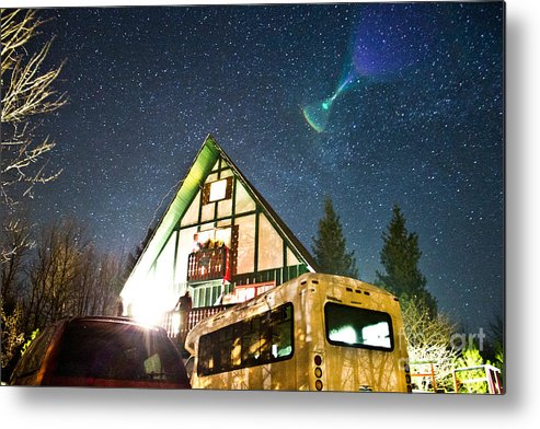 Indian Head Mt Metal Print featuring the photograph Stars Over Pow Wow by Ryan Rhy-Kno Kulpa