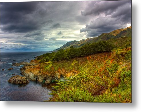 California Metal Print featuring the photograph Stormy Coast by Matt Trimble