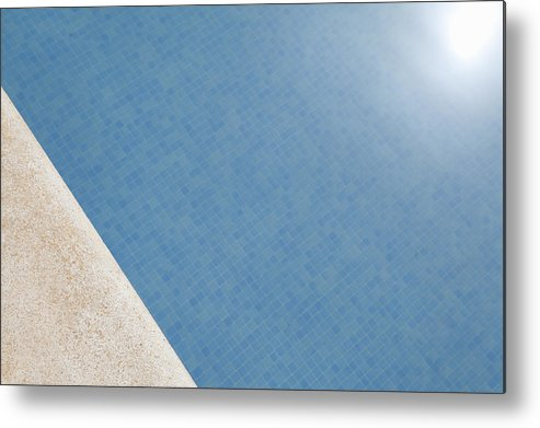 Horizontal Metal Print featuring the photograph Sun On A Swimming Pool by James French