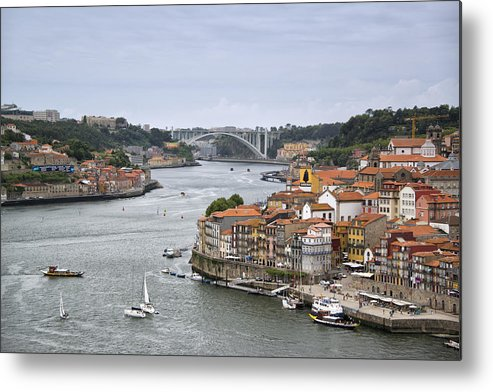 Horizontal Metal Print featuring the photograph Sunday Morning In Porto | Portugal by Stefan Cioata