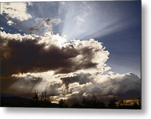 Sunlight Metal Print featuring the photograph Sunlight And Stormy Skies by Mick Anderson