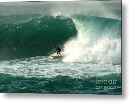 Surfing Metal Print featuring the photograph Sunset Beach Hawai'i by Mark Gilman