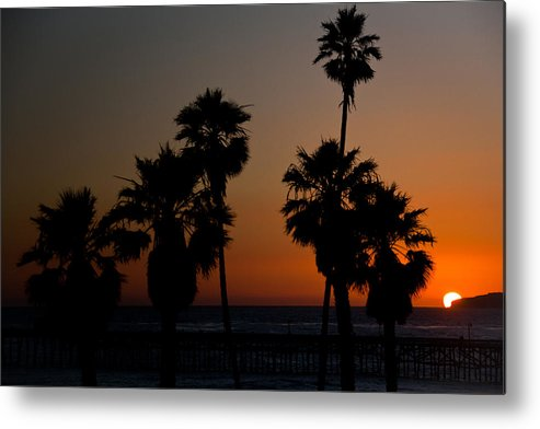 San Clemente Metal Print featuring the photograph sunset in Califiornia by Ralf Kaiser