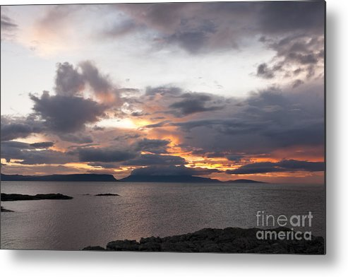 Sunset Metal Print featuring the photograph Sunset Storm Clouds Inner Hebrides by Hugh McKean