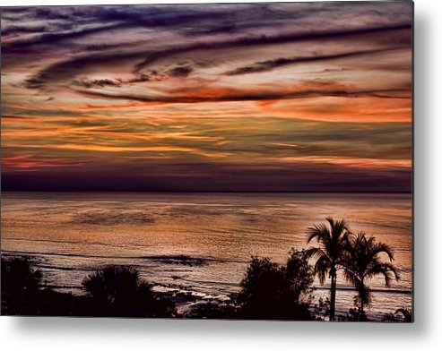 Sunset Metal Print featuring the photograph Sunset Swirl by Douglas Barnard