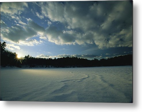 Outdoors Metal Print featuring the photograph Sunset Viewed From The Frozen Surface by Tim Laman