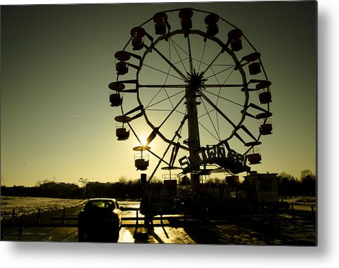 Sunset Metal Print featuring the photograph Sunwheel by Catalin Scarlat