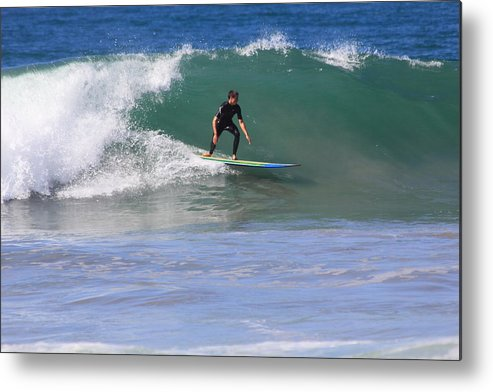 Person Metal Print featuring the photograph Surfer 3 by Judith Szantyr