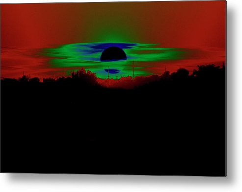 Sunset Metal Print featuring the photograph Surreal Sunset by Rick Rauzi