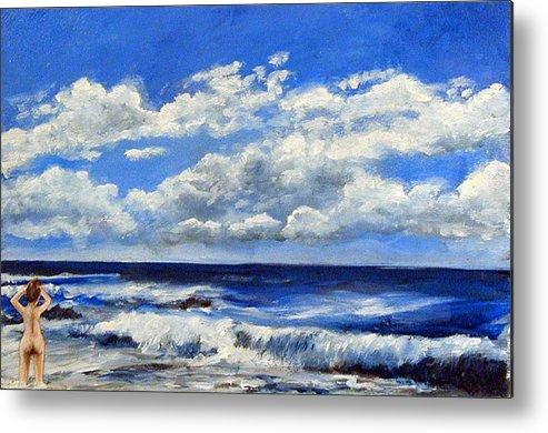 Ocean Metal Print featuring the painting Swimmer by Robert Harvey