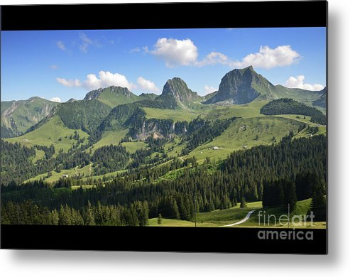 Mountain Metal Print featuring the photograph Swiss View 1 by Bruno Santoro