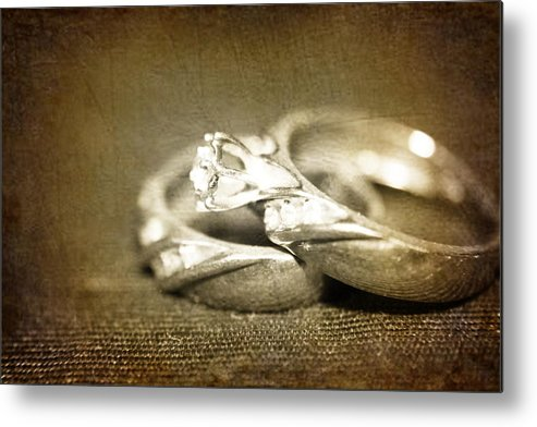 Rings Photograph Metal Print featuring the photograph Symbol Of Love by Ester Rogers