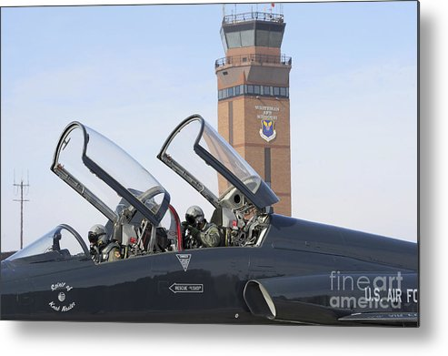 Us Air Force Metal Print featuring the photograph T-38 Talon Pilots Make Their Final by Stocktrek Images