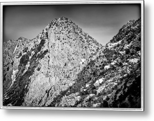 Nature Metal Print featuring the photograph Taos Mountain 3 by Lisa Spencer