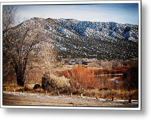 Taos Metal Print featuring the photograph Taos Mountain View 1 by Lisa Spencer