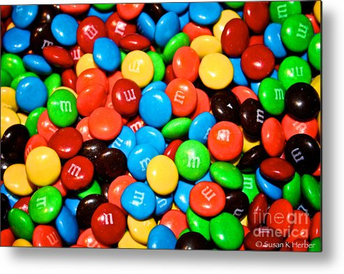 Treats Metal Print featuring the painting Tasting Color by Susan Herber