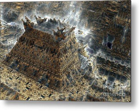 Fractal Art Metal Print featuring the digital art Temple by Bernard MICHEL