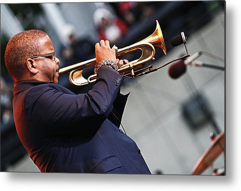 Terrence Blanchard Metal Print featuring the photograph Terrence Blanchard by Tony Graves