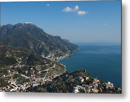 Horizontal Metal Print featuring the photograph The Amalfi Coast From Ravello by Driendl Group