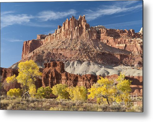 Southwest Metal Print featuring the photograph The Castle by Sandra Bronstein