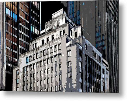 Heart Of The City Metal Print featuring the photograph The Center by Burney Lieberman