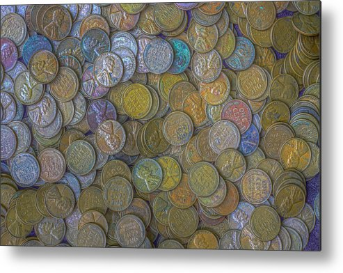 Lincoln Metal Print featuring the photograph The Color Of Copper Money by Randy Steele