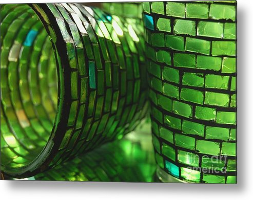 Glass Metal Print featuring the photograph The Glass Is Always Greener... by Jeannette Sheehy