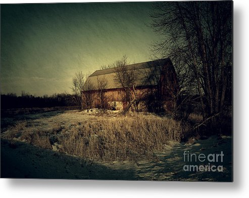 Barn Metal Print featuring the photograph The Hiding Barn by Joel Witmeyer