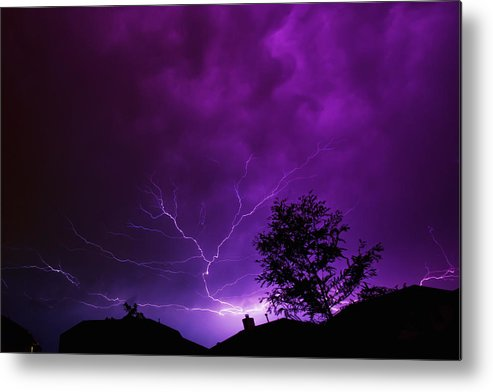 Lightning Metal Print featuring the photograph The Lightning Spread by Lisa Spencer