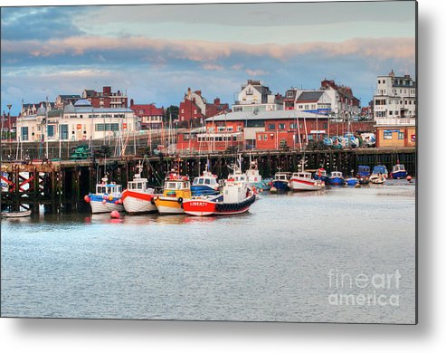 Bridlington Harbour Photograph Metal Print featuring the photograph The Lobster Quay by David Hollingworth