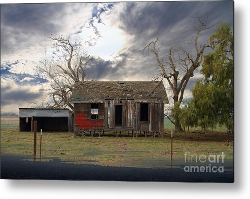 Dream Metal Print featuring the photograph The Old Farm House In My Dreams by Wingsdomain Art and Photography