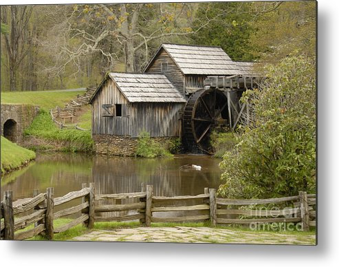 History Metal Print featuring the photograph The Old Grist Mill by Cindy Manero