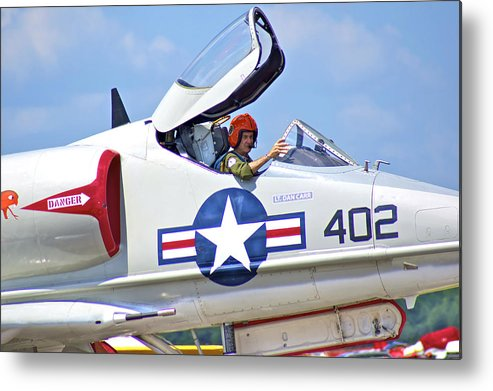 Pilot Metal Print featuring the photograph The Old Pro by Dieter Lesche