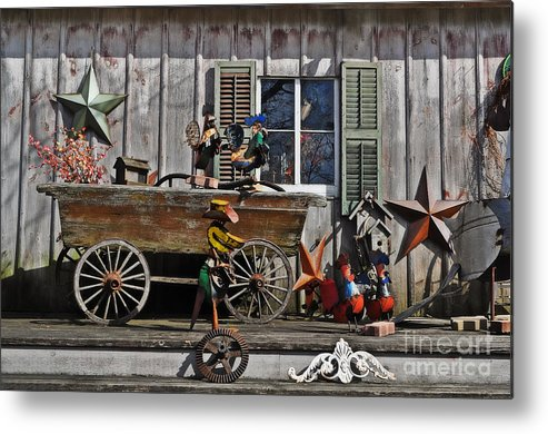 The Old Shed Metal Print featuring the photograph The Old Shed by Mary Machare