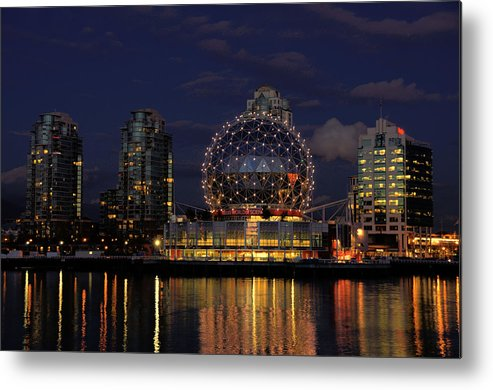 Telus Metal Print featuring the photograph The Telus Science Center At Night by Lawrence Christopher