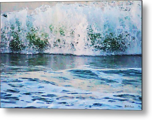 The Wave Metal Print featuring the photograph The Wave by Bill Cannon