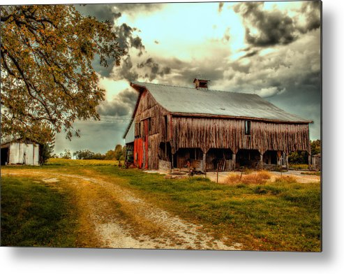 Barn Metal Print featuring the photograph This Old Barn by Bill Tiepelman
