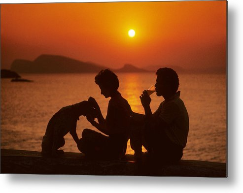 Man Metal Print featuring the photograph Three Friends On Mykonos by Carl Purcell