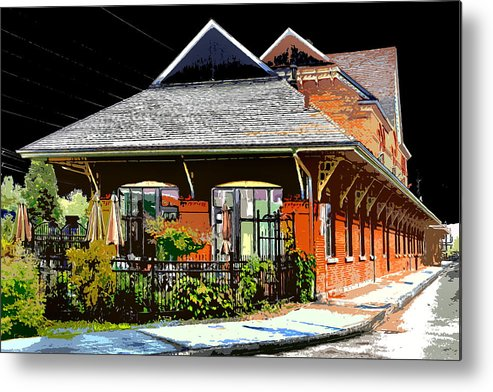 Railway Station Metal Print featuring the photograph Ticket Store by Burney Lieberman
