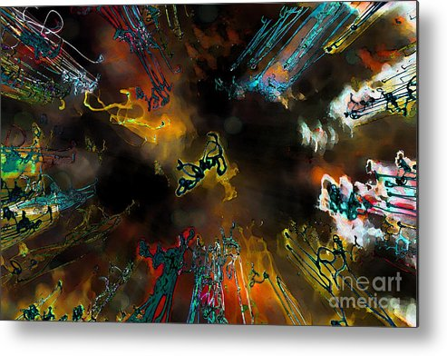 Abstract Metal Print featuring the photograph Time Flies by Jeff Breiman