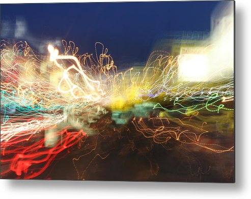 Neon Metal Print featuring the photograph Time Tunnel by Rick Rauzi